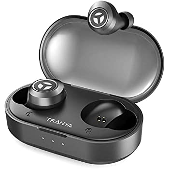 7bc08039b8e Bluetooth 5.0 Deep Bass True Wireless Headphones,TRANYA T2 Sports Wireless  Earbuds, 40 Hours Playtime, IPX 5 Sweat Proof Earphones, Gift Box