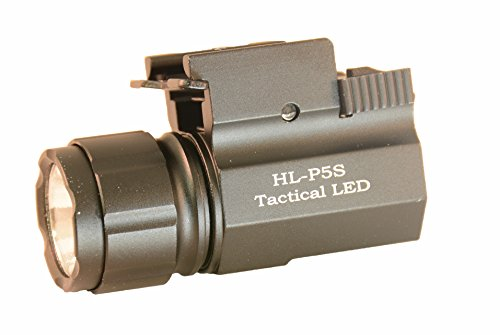 Aimkon-HiLight-P5S-400-Lumen-Pistol-LED-Strobe-Flashlight-with-Weaver-Quick-Release-Compact-and-Subcompact-Pistols-Black
