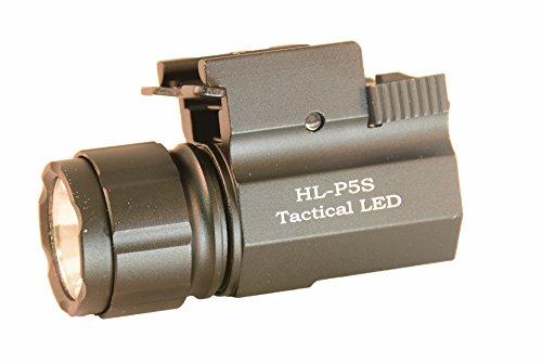 Aimkon-HiLight-P5S-400-Lumen-Pistol-LED-Strobe-Flashlight-with-Weaver-Quick-Release-Compact-and-Subcompact-Pistols-Black
