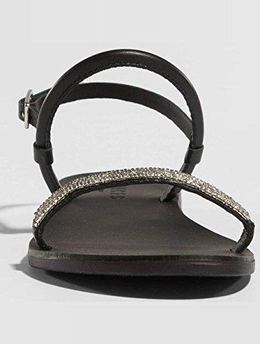 Femme Claquettes amp; psMiya Noir Pieces Sandales Chaussures wgfvxwnH