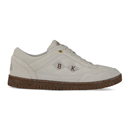British Knights Quilts Men's Quilted Suede Oxford Sneaker White/Gum, 8.0
