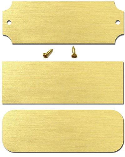Blank Brass Plates - 1