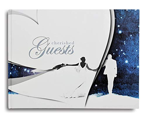 (Cherished Guest Hardcover Wedding Guest Book, Wedding Guest Advice Book, Registration Book, Signature Book, Contemporary Matte Finish, Hardcover)