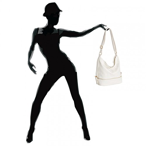 White A4 Bag Small Format Shoulder Messenger for CASPAR Womens TS732 Bag wx6q6FvB
