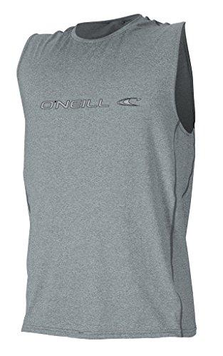 O'Neill Wetsuits Men's UV Sun Protection Hybrid Sleeveless Tee Sun Shirt Rash Guard