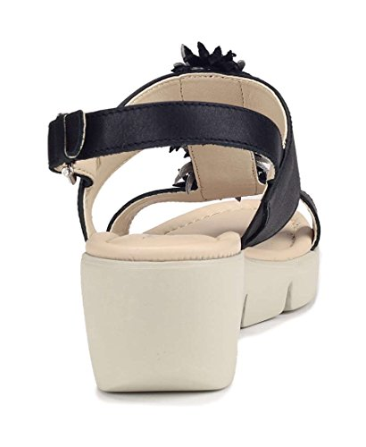 Black Emma Zeppa Flexx Sandalo The Donna 065Xq0x