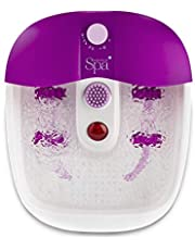 Sensio Foot Spa Massager Bath – Pamper Your Feet with Heat, Bubbles and Massaging Tools – All In One Home Salon – Therapeutic Massage Tub Pedicure Set