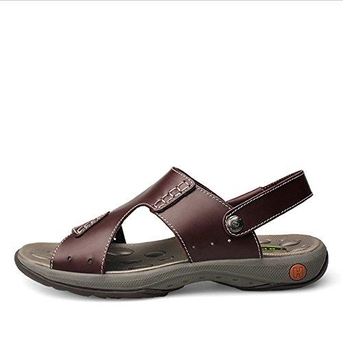 In 23 Casual 28 pantofole Comode spiaggia Sandali Traspiranti da Wagsiyi Estate CM Scarpe Pelle Rosso All'aria Sandali Sport 5 Da 0 Scarpe Aperta E Pantofole Spiaggia Scarpe YwnUTqf