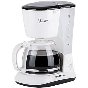 10 Tassen Filter-Kaffeemaschine mit Permanent-Filter mit Warmhalteplatte, 1,25L