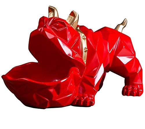 Vawaa Nordic Lucky Dog Geometric Animal Sculpture Ornament