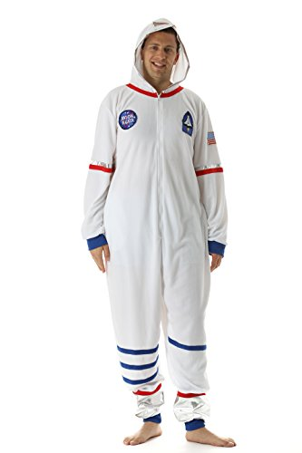 Just Love 6346-L Men's Adult Onesie Mens Pajamas, Moon Walker, -