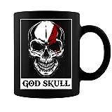 God Skull Halloween Gamer Gift Video Game Player Gaming Adventure 11 Oz Ceramic Black Coffee Tea Mug - 11 oz. Black Coffee Cup