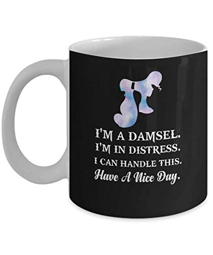 I'm A Damsel I'm In Distress I Can Handle This Megara Hercules Coffee Mug, Funny, Cup, Tea, Gift For Christmas, Father's day, Xmas, Dad, Anniversary, ()