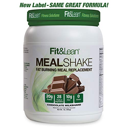 Fit & Lean Fat Burning Meal Replacement, Chocolate, 1 lb (Best Weight Loss For Pcos)