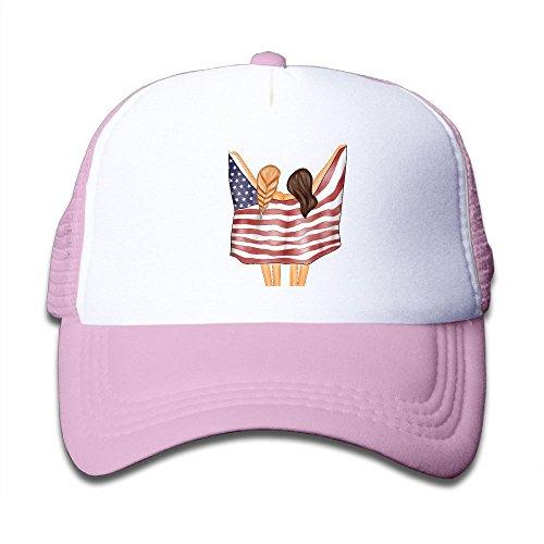 SFT Kid's Charm of 4th of July Trucker Baseball Cap Adjustable Mesh Hat Girl Boy