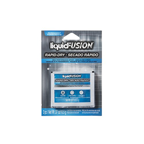 Liquid Fusion Rapid Dry Epoxy, Industrial Strength Glue, 3-Pack