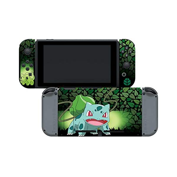 "Controller Gear Officially Licensed Nintendo Pokémon Switch Skin & Screen Protector ""Bulbasaur Elemental Set 1"" 6"