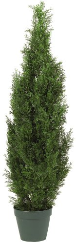 Nearly Natural 5172 Cedar Silk Tree, 4-Feet, Green (Silk Topiary Flower)