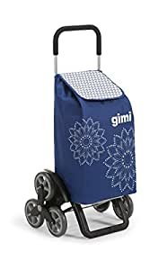 GIMI Tris Floral Shopping Trolley, Blue