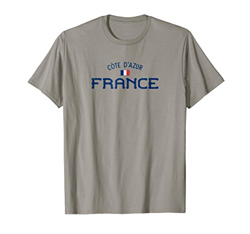 Cote d'Azur France Shirt With Distressed French Design