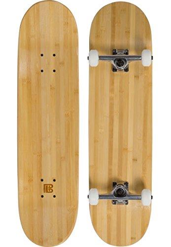 Bamboo Skateboards Hard Good Blank Short Board Complete, 8, Natural