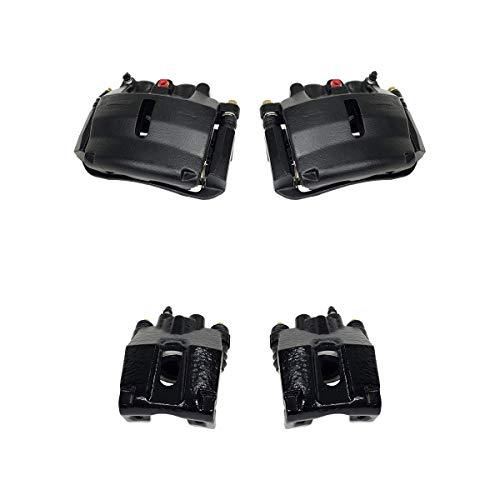 - Callahan CCK03681 [4] FRONT + REAR Premium Semi-Loaded Black Calipers + Hardware Brake Kit