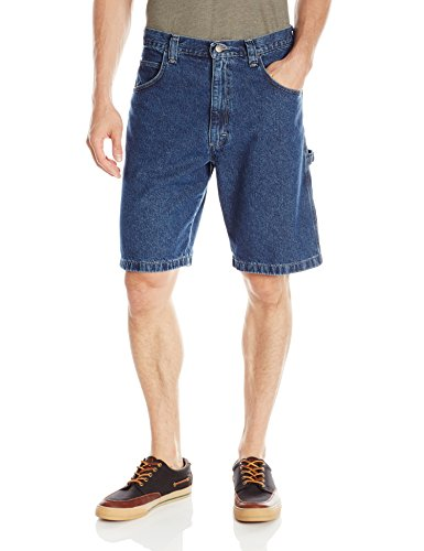 Wrangler Authentics Men's Classic Carpenter Short, Retro Stone 33 Denim Five Pocket Shorts