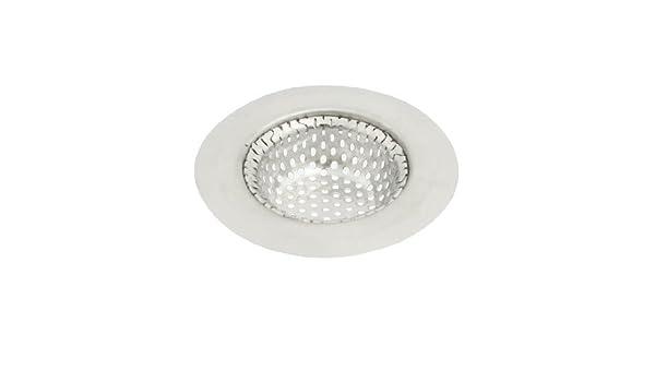 eDealMax 70mm baño planta superior Dia. El tono de plata del fregadero colador tapón - - Amazon.com