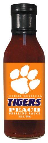 4 Pack CLEMSON Tigers Peach Grilling Sauce 12 oz