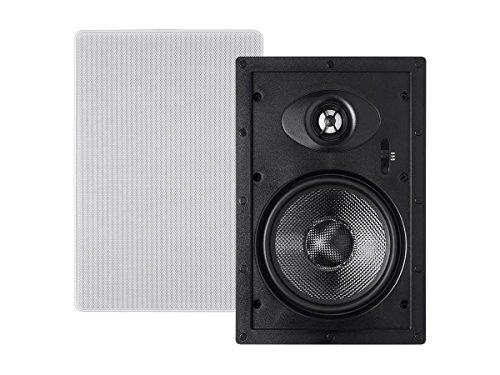 Alpha In Wall Speakers 6.5 Inch Carbon Fiber 2-way