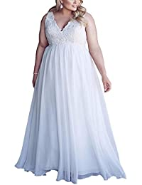 Chiffon Applique Beach Wedding Dress Long Formal Prom Evening Gown