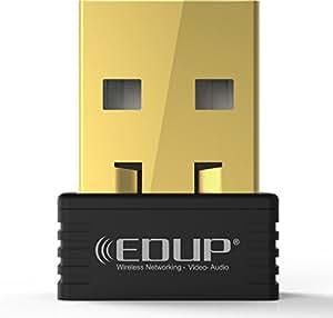 WiFi Adapter USB Wireless Nano Adapter 150Mbps Wireless N Dongle Supports Windows 10/8/7/Xp/Vista Mac 10.6-10.13 OS