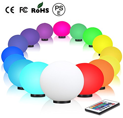 Bedroom Bedside Lamp,Protect pregnant Women and Children eye Lamp,Remote Control 16 Colors, Color Changing Ball light,Color Bulb light,RGB Color Lamp