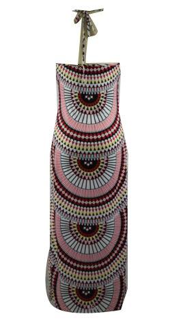 Femmes Coolred Imprimé Robe De Cocktail Sans Manches Licou Robe Longue Comme Image