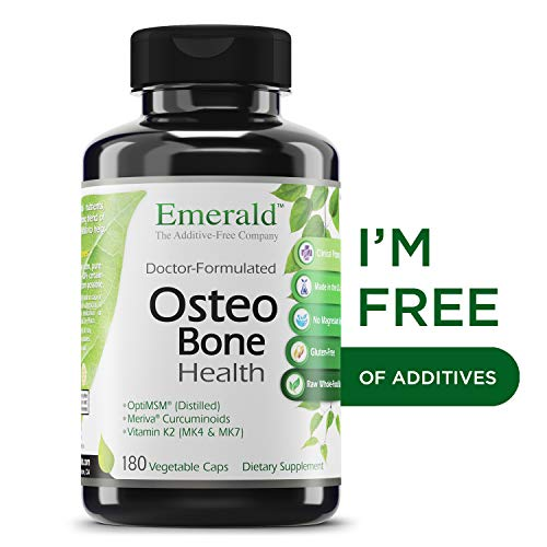 Osteo Bone Formula - Osteo Bone Health - with Meriva Phytosome + Opti MSM Vit K2 (MK4 & MK7) & MCHA Calcium - Support for Strong Bones, Joint Strength, & Immune Support - Emerald Laboratories - 180 Vegetable Capsules