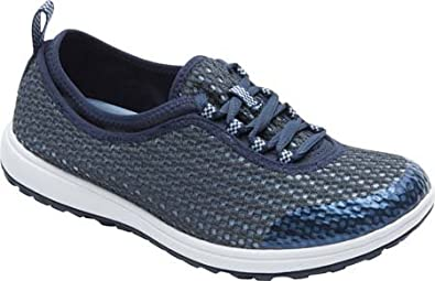 Rockport Women's Walk360 Washable Laceup,Deep Ocean/Icy Blue Wash,US 7.5 M