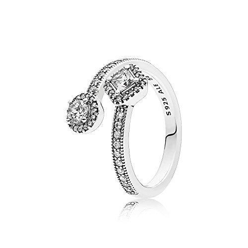 PANDORA Ring 191031CZ-54 Woman Elegance Abstract