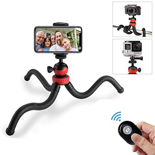 Phone Tripod, OASMU Portable and Adjustable Camera Stand Holder with Wireless Remote and Universal Clip for iPhone, Android Phone, Camera, Sports Camera GoPro Big