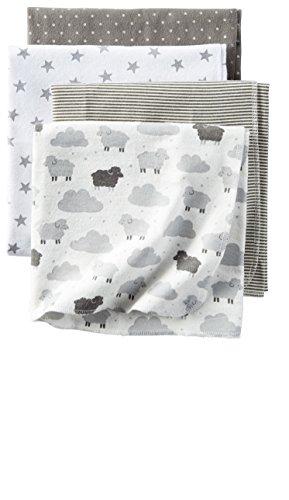 Carters 4 Pack Flannel Receiving Blankets