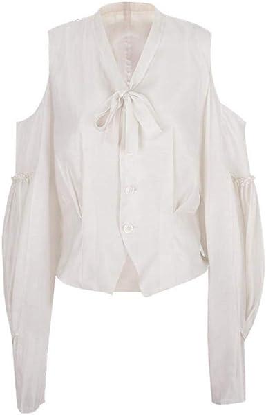 Blusas Y Camisas para Mujer Camisa Blanca Camisa Blanca Retro ...