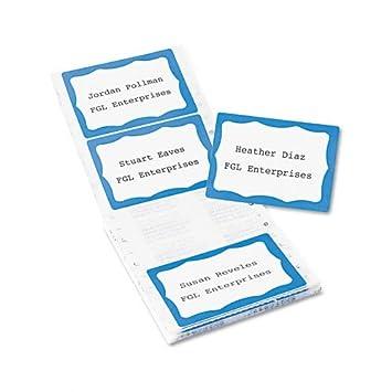 amazon com avery 4160 dot matrix prntr name badge labels white w