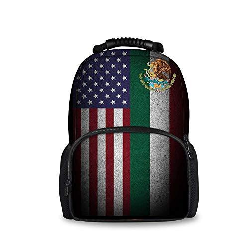 Price comparison product image JACINTAN Large Capacity Backpacks Women American Mexico Flag Shoulder Packs