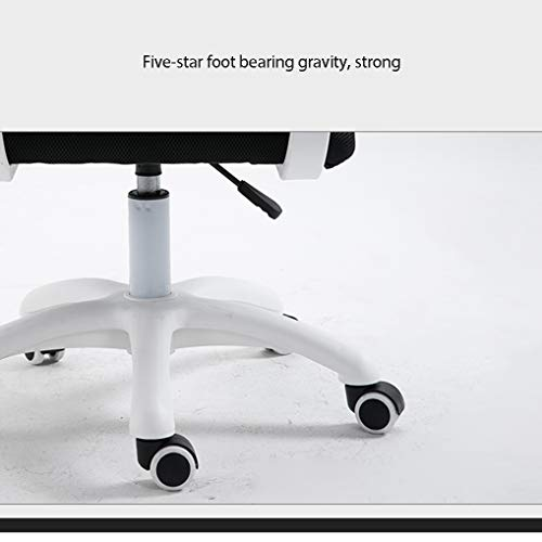 YANG hem skrivbordsuppgift datorstol – modernt tyg låg rygg kontorsstol med justerbar höjd, för mottagning matsal konferensrum, vit