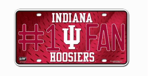 Indiana Hoosiers License Plate - #1 - Outlet Indiana Mall