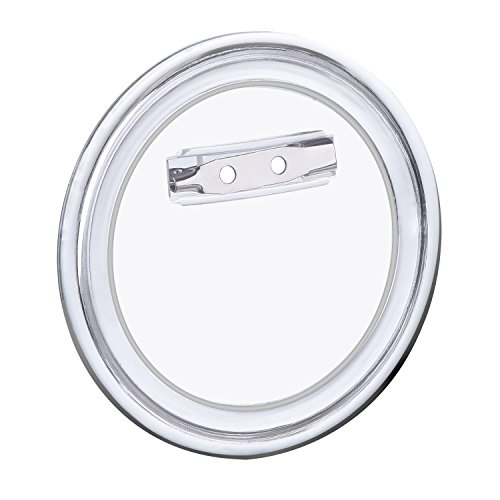 Hotop 24 Sets Design a Button, Clear Plastic Button with Pin for DIY Crafts (2.36 (Clear Round Buttons)
