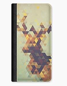 Geometric Deer Triagnles Indie Hipster Animal Digital Design iPhone 5c Leather Flip Case
