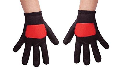Red Power Rangers Ninja Steel Child Gloves, One (Kids Ninja Costumes Gloves)