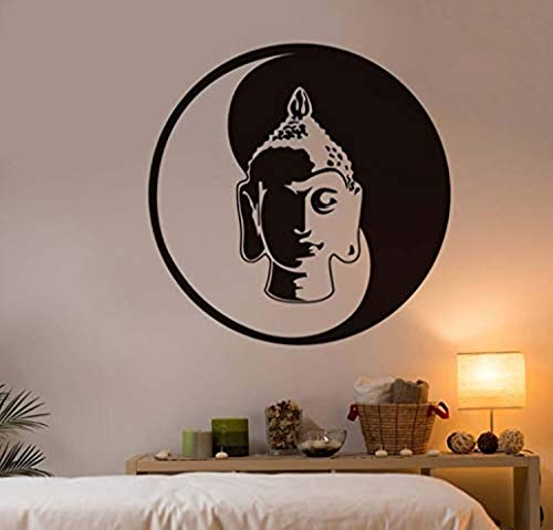 Studio Moll Buddha Head Statue India Buddhism Sacred Pattern Home Sofa Background Decors Wholesale - Wall Decals Mural Decor Vinyl Z8787 ()