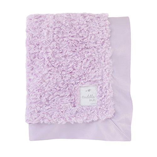 Cuddle Me Luxury Plush Blanket with Matte Satin Border, Lavender