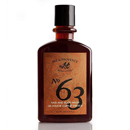No. 63 Men's Shower Gel, Aromatic, Warm, Spicy Masculine Fragrance, Enriched With Natural & Repairing Shea Butter & Aloe Vera (8 fl oz) ()